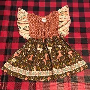 Wildflowers unicorn dress/tunic sz2